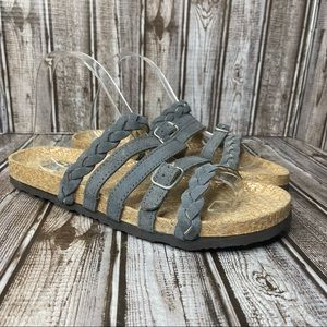 Muk Luks suede slide sandals- like new - gray size 10